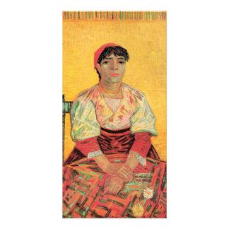 Italian Woman Agostina Segatori by van Gogh Photo Cards