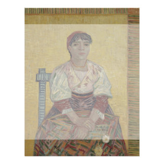 Italian Woman by Vincent Van Gogh Flyer Design