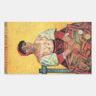 Italian Woman portrait painting  Vincent van Gogh Rectangular Sticker