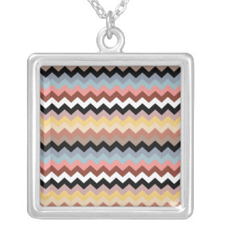 Italian Zig Zag Blue Yellow Necklace