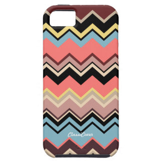 Italian Zig Zag Orange Blue Black Case Mate