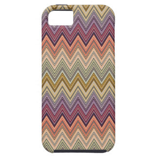 Italian Zig Zag Orange Blue Purple iPhone 5 Case