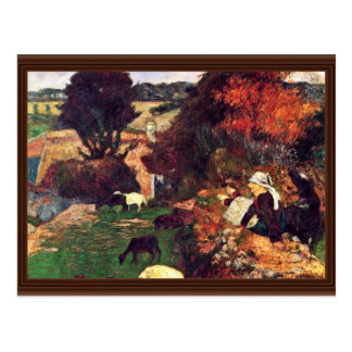 Italiano: La Pastora Breton, Breton Shepherdess Postcard