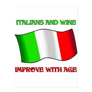 Italians And Wine, Improve With Age Post Cards