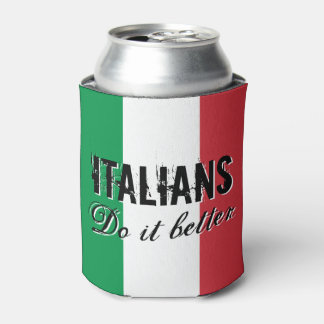 Italians do it better can cooler with Italy flag