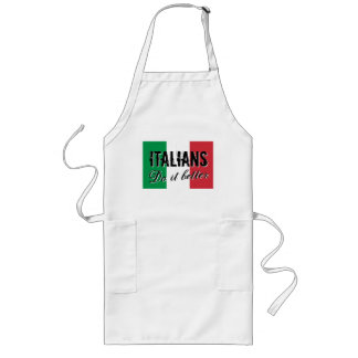 Italians do it better funny BBQ apron for men