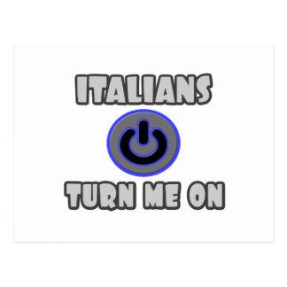 Italians Turn Me On Postcard