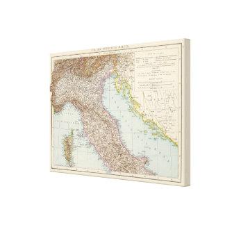 Italien nordliche Halfte, Map of North Italy Canvas Print