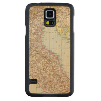 Italien nordliche Halfte, Map of North Italy Carved Maple Galaxy S5 Case