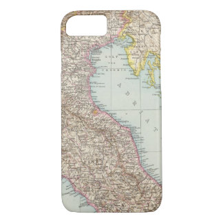 Italien nordliche Halfte, Map of North Italy iPhone 8/7 Case