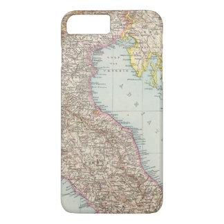 Italien nordliche Halfte, Map of North Italy iPhone 8 Plus/7 Plus Case