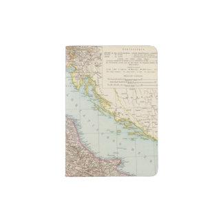 Italien nordliche Halfte, Map of North Italy Passport Holder