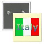 Italy 15 Cm Square Badge
