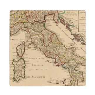 Italy 16 wood coaster