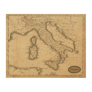 Italy 18 wood print