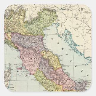 Italy 28 square sticker