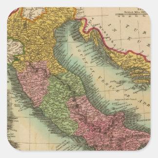 Italy 3 square sticker