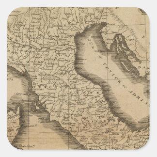 Italy 5 square sticker