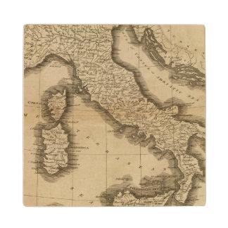 Italy 5 wood coaster