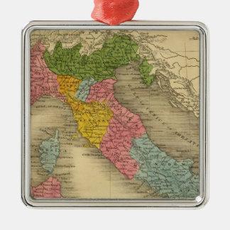 Italy 8 Silver-Colored square decoration