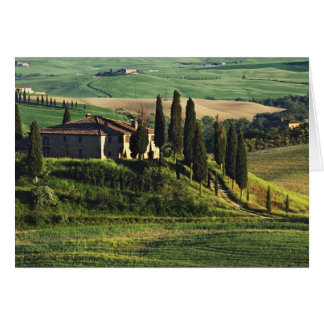 Italy. A pastoral Tuscany villa in Val d'Orcia. Card