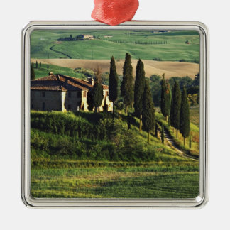Italy. A pastoral Tuscany villa in Val d'Orcia. Christmas Ornament