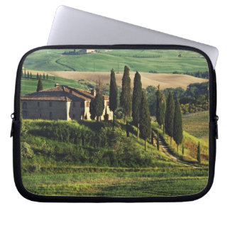 Italy. A pastoral Tuscany villa in Val d'Orcia. Laptop Computer Sleeves