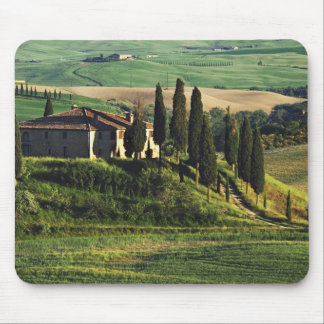 Italy. A pastoral Tuscany villa in Val d'Orcia. Mouse Mat