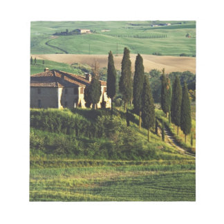 Italy. A pastoral Tuscany villa in Val d'Orcia. Notepad