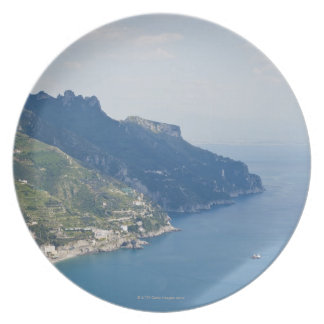 Italy, Amalfi Coast, High angle view on town at Plate
