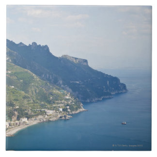 Italy, Amalfi Coast, High angle view on town at Tile