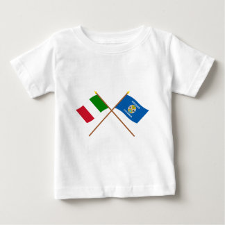 Italy and Calabria crossed flags Baby T-Shirt