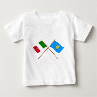 Italy and Friuli-Venezia Giulia crossed flags Baby T-Shirt