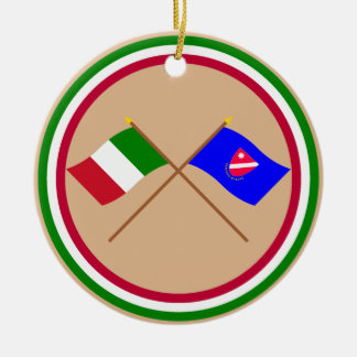 Italy and Molise crossed flags Christmas Ornament