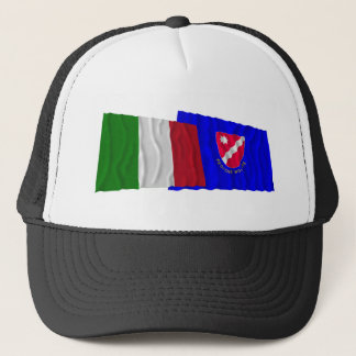 Italy and Molise waving flags Trucker Hat