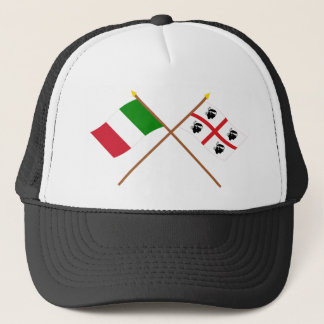 Italy and Sardegna crossed flags Trucker Hat