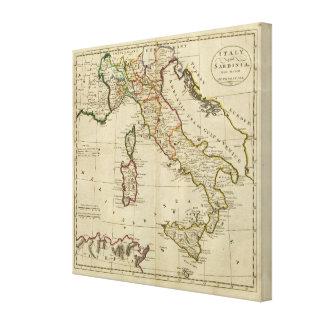 Italy, and Sardinia Canvas Print