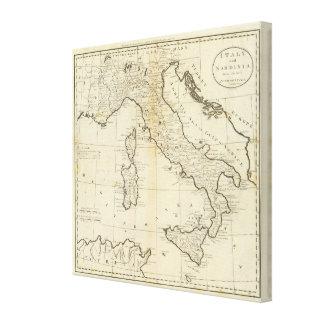 Italy and Sardinia Canvas Print