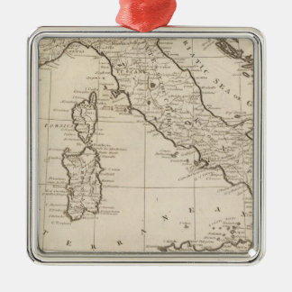 Italy, and Sardinia Silver-Colored Square Decoration