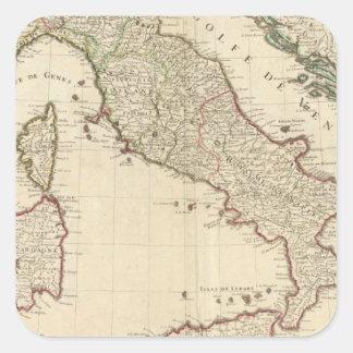 Italy and Slovenia 2 Square Sticker