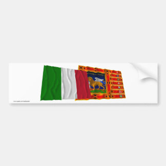 Italy and Veneto waving flags Bumper Sticker