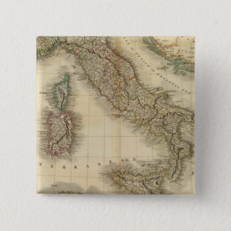 Italy Atlas Map 15 Cm Square Badge
