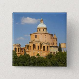 Italy, Bologna, Sunny Day with Portico di San 15 Cm Square Badge