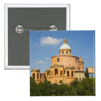 Italy, Bologna, Sunny Day with Portico di San 15 Cm Square Badge