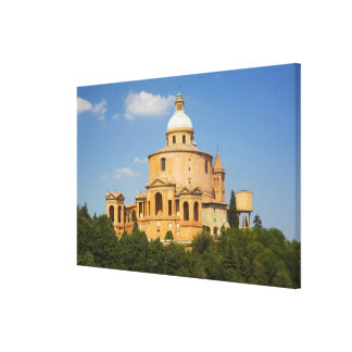Italy, Bologna, Sunny Day with Portico di San Canvas Print