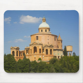 Italy, Bologna, Sunny Day with Portico di San Mouse Mat