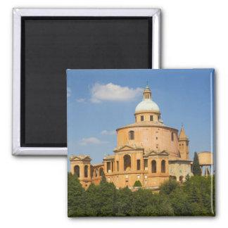 Italy, Bologna, Sunny Day with Portico di San Square Magnet