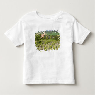 Italy, Bologna, View through Vineyard to Chiesa Toddler T-Shirt