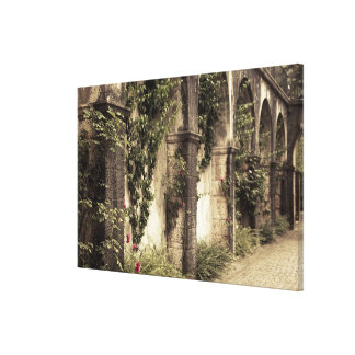 Italy, Brescia Province, Gardone Riviera. Garden Gallery Wrap Canvas