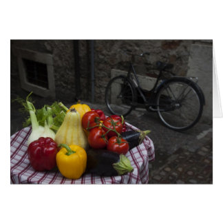 Italy, Brescia Province, Gargnano. Table with 2 Greeting Card